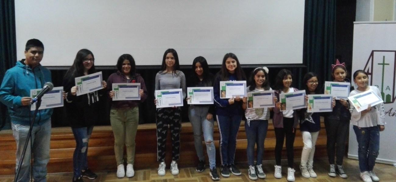 Colegio realiza Primer Concurso de Deletreo