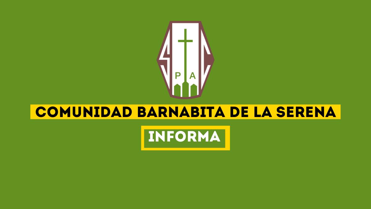 COMUNIDAD BARNABITA LA SERENA INFORMA