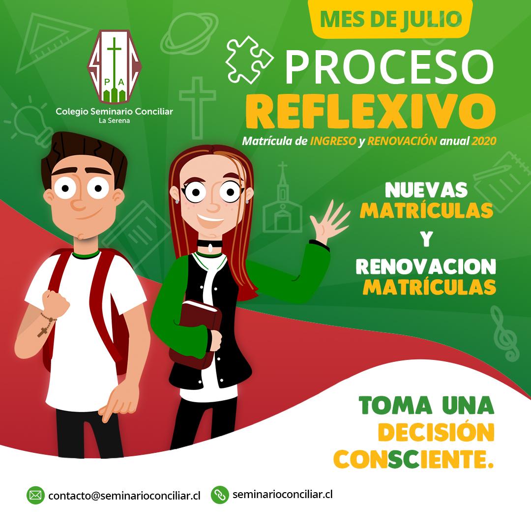 JULIO INICIA PROCESO REFLEXIVO DE MATRÍCULAS