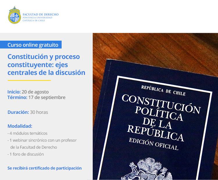 PUC REALIZA CURSO ONLINE Y GRATUITO DE CONSTITUCIÓN