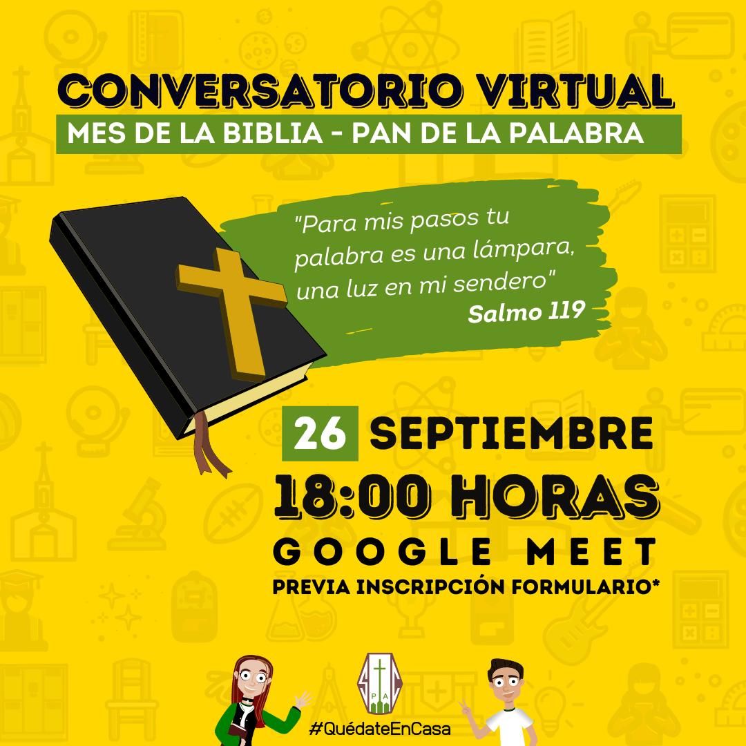 CONVERSATORIO VIRTUAL CIERRE MES DE LA BIBLIA