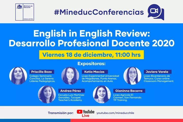 MISS PRISCILLA EXPONE EN CONFERENCIA MINEDUC ENGLISH IN ENGLISH REVIEW