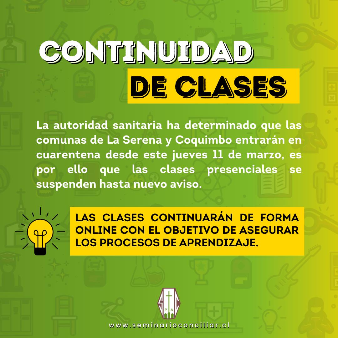 CONTINUIDAD DE CLASES