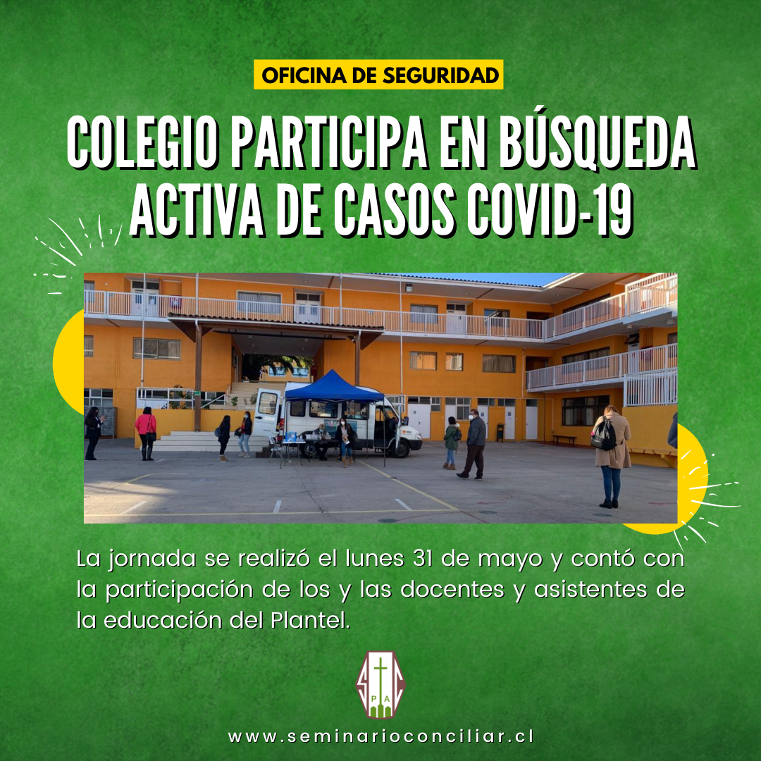 COLEGIO PARTICIPA EN BÚSQUEDA ACTIVA DE CASOS COVID-19