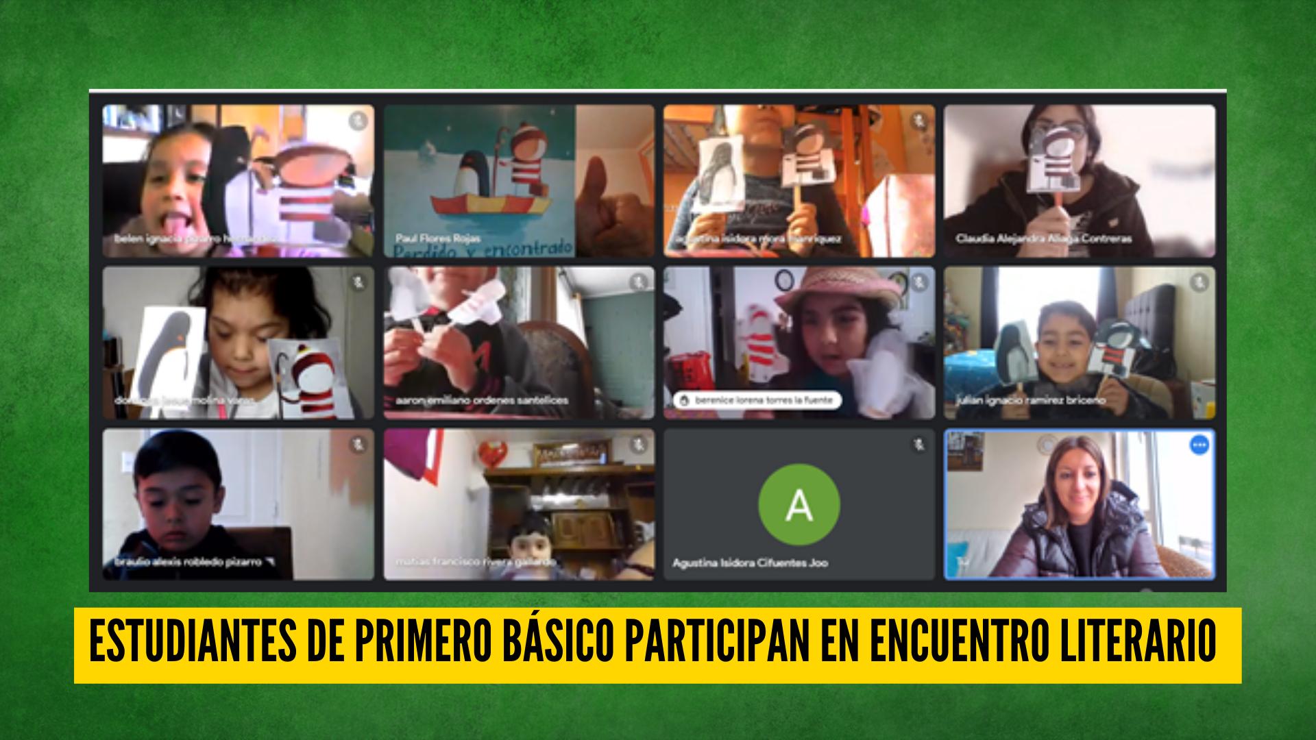ESTUDIANTES DE PRIMERO BÁSICO PARTICIPAN EN ENCUENTRO LITERARIO