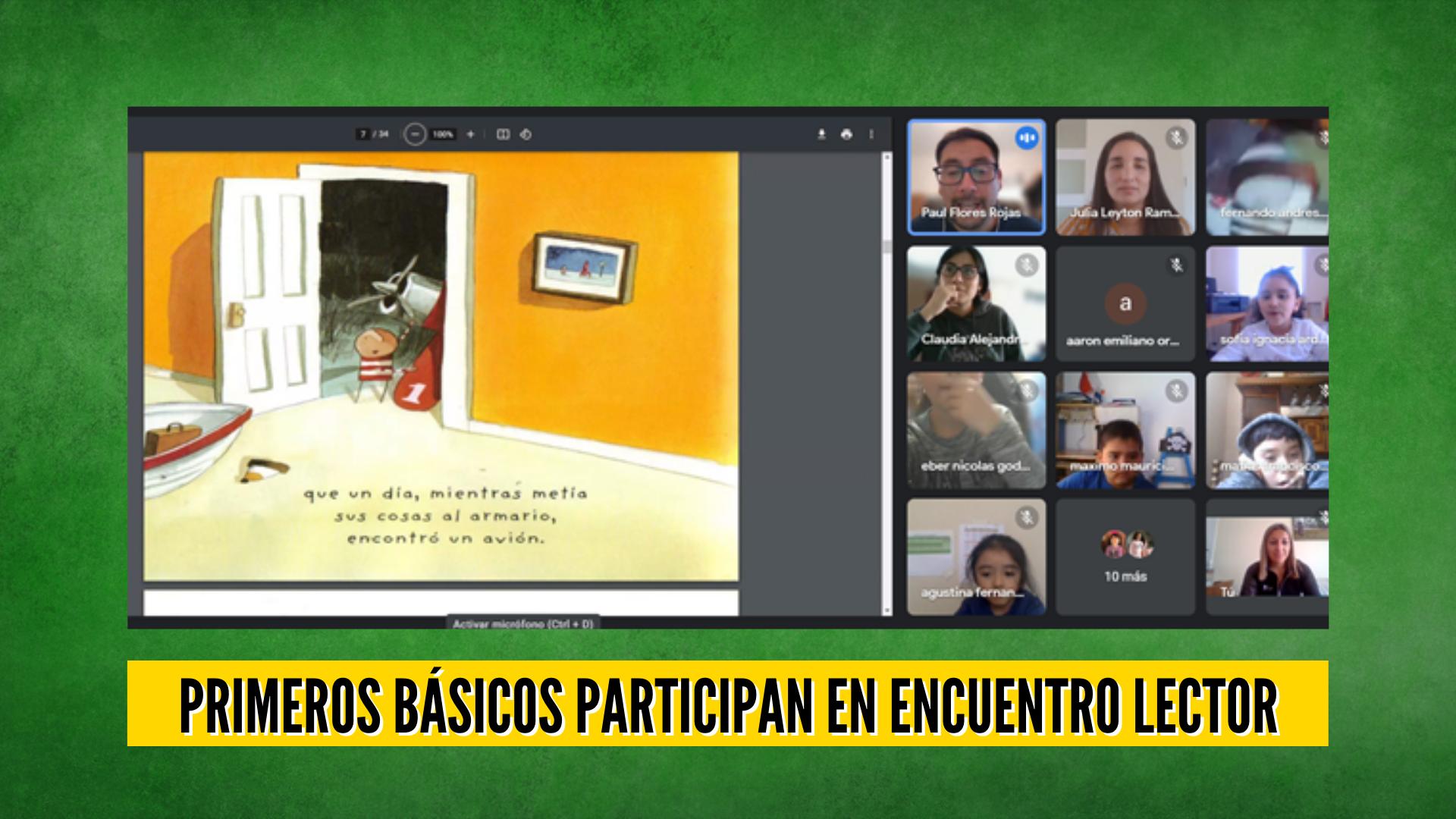 ESTUDIANTES DE PRIMEROS BÁSICOS PARTICIPAN EN ENCUENTRO LECTOR