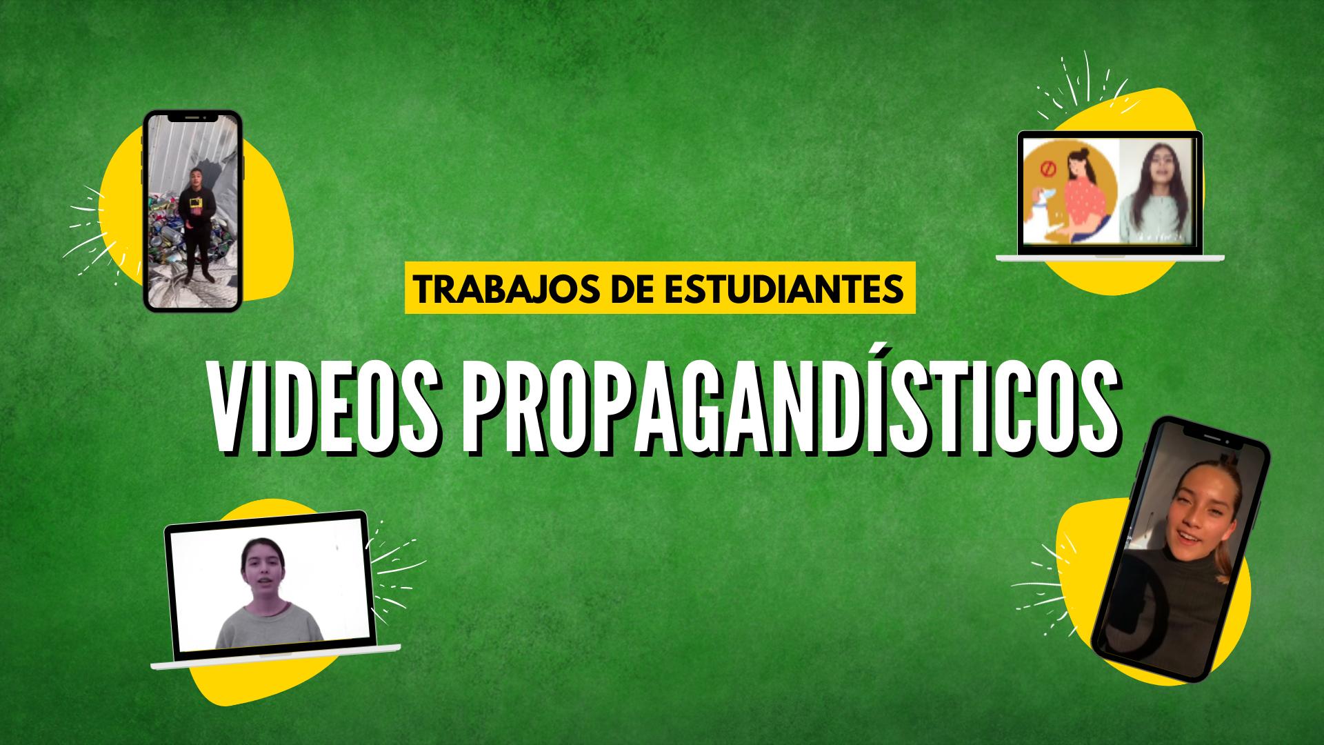 ESTUDIANTES REALIZAN TRABAJOS DE VIDEOS PROPAGANDÍSTICOS
